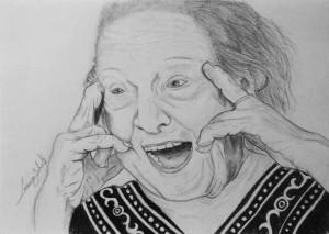 A - Tatiana Belinky 10, desenho da bisneta Luciana Belinky